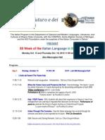 XII Settimana Della Lingua Italiana Final