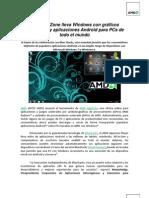 AMD AppZone lleva Windows con gráficos acelerados y aplicaciones Android para PCs de todo el mundo