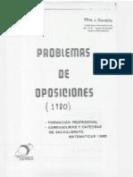Problemas Oposiciones 1980 Braulio de Diego