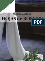Hojas de Romero novela de Miriam Marrero