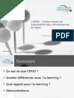 EPSS - Autre Moyen de Transmettre Des Connaissances en Ligne