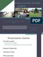 PRESENTATION - Improving HR for health in PNG