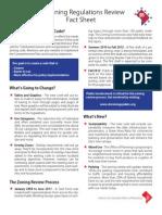 DC Zoning Regulations Review Fact Sheet 2012 10