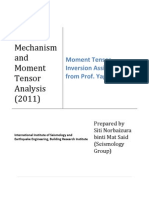 Focal Mechanism and Moment Tensor Analysis_Siti