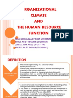Organizational Climate and the Human Resources Function