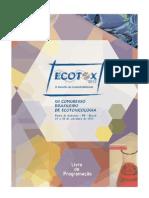 Congresso Brasileiro de Ecotoxicologia - ECOTOX 2012