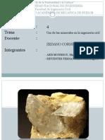 Aplicaciones de algunos Minerales en la Ingeniería Civil