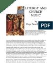 Liturgy and Church Music - Card Joseph Ratzinger, 1985