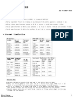 Daily Derivative Report 10-10-12