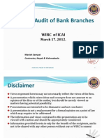 Bank Branch Audit - Audit Planning