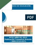 Cuadernos de Educación 2012 SEP- NOV (año VI) nº22