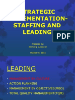 Strategic Implementation-leading Report