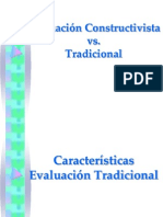 Evaluacion Constructivista vs Tradicional