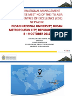 ITU-UUM Slides for Pusan, Korea 2012