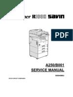 Ricoh Aficio 250 Service Manual