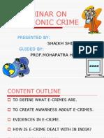 Electronics Crime