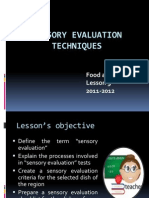 Sensory Evaluation Techniques Lesson 9 Fs'11-12