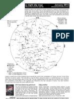 January 2013 night sky chart
