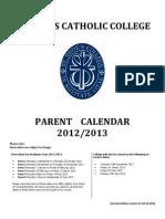 Calendar for Parents 2012-2013