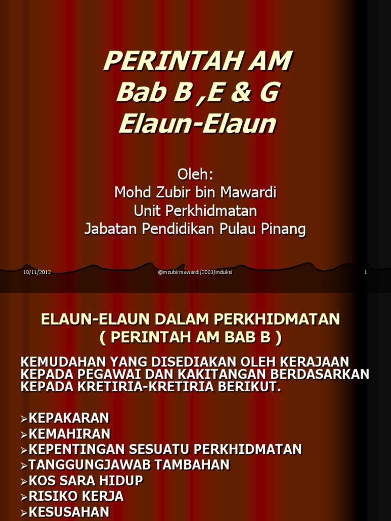 7 1 Pa Bab B Elaun Elaun Dalam Perkhidmatan