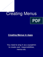 Creating Menu in Apps Oracle Application E-Business Suite 11i