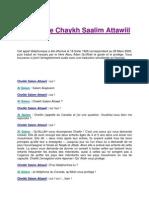 Conseil de Chaykh Saalim Attawiil