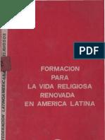 Clar - Formacion Para La Vida Religiosa Renovada en America Latina