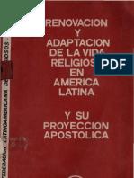 Clar - Renovacion Adaptacion y Proyeccion de La Vida Religiosa