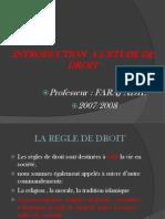Introduction a Letude de Droit