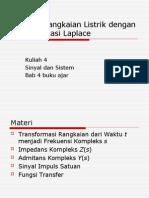 Analisis Rangkaian Listrik Dengan Transformasi Laplace