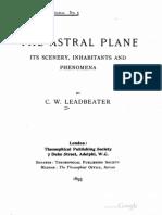 Leadbeater the Astral Plane Its Scenery Inhabitants 1895