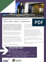Simulation and Visualisation Workshop Flyer