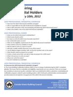 LEED FAQs