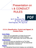 PP7-CCA & Conduct Rules