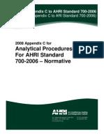 Appendix C AHRI to Standart 700-2006