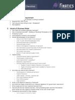Feasibility Study Checklist
