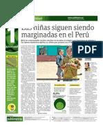 Las niñas siguen siendo marginadas en el Perú