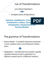 The Grammar of Transformations
