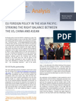 EU Foreign Policy in the Asia Pacific- Striking the Right Balance Between the US, China and ASEAN