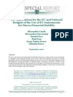 He Implications for the EU and National Budgets of the Use of EU Instruments for Macro-Financial Stability