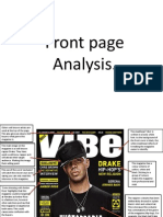 Front Page Analysis