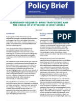 Policy Brief 37- Leadership Required- Drug Trafficking and the Crisis of Statehood in West Africa