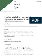 Le dire vrai et la psychanalyse_ à propos de Foucault et Lacan.pdf