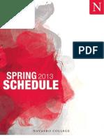 2013 Spring Schedule
