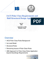 ABS Polar Ice Class Ship Structure Design