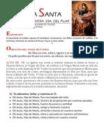 HORA SANTA EN LA FIESTA DE LA VIRGEN DEL PILAR
