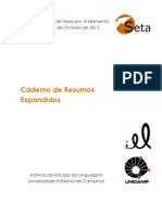 Caderno de Resumos - XVIII SETA