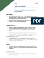 Evaluación del cumplimiento de las normas de seguridad y prevención de riesgos laborales