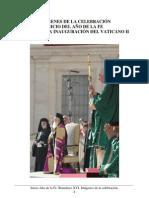 Año de la Fe. Benedicto XVI. Inicio en Imágenes.