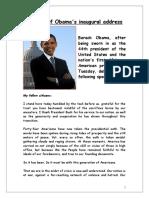 Full Text of Barack Obama's Speech